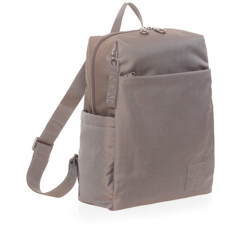 Rucksack MD20 QMT15, Farbe: grau, taupe/khaki, Marke: Mandarina Duck, Abmessungen in cm: 30.5x40.0x14.0, Bild 2 von 6