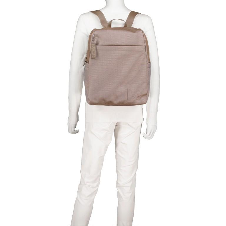 Rucksack MD20 QMT15, Farbe: grau, taupe/khaki, Marke: Mandarina Duck, Abmessungen in cm: 30.5x40.0x14.0, Bild 5 von 6