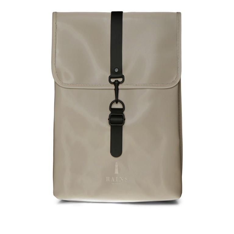 Rucksack Rucksack mit Laptopfach 15 Zoll, Farbe: schwarz, taupe/khaki, Marke: Rains, Abmessungen in cm: 29.5x42.0x11.0, Bild 1 von 5