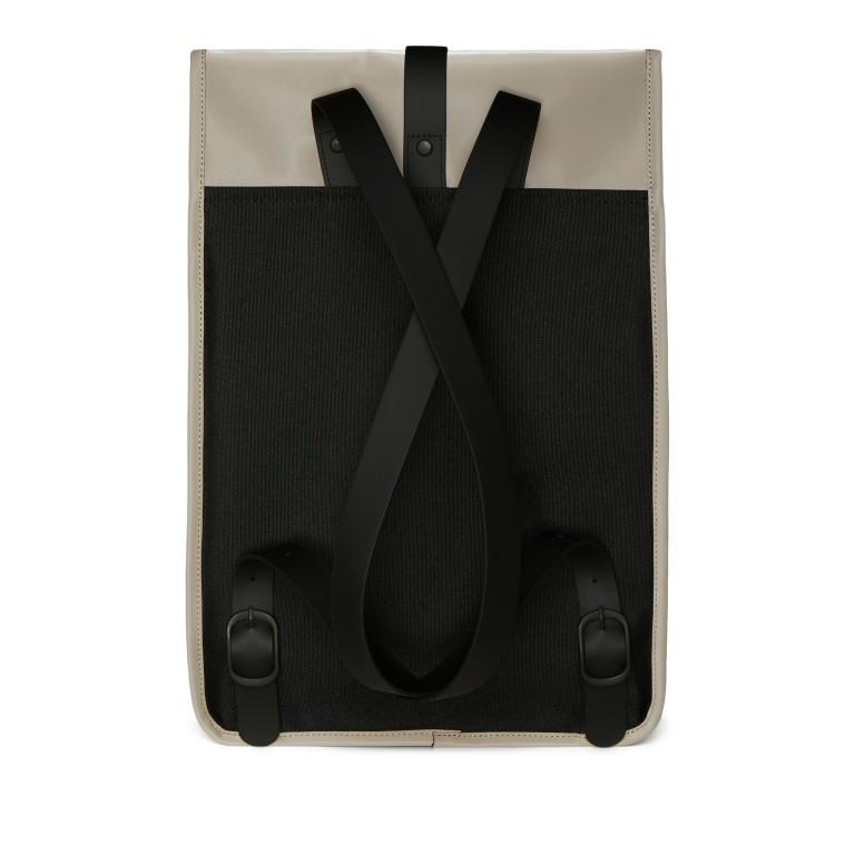 Rucksack Rucksack mit Laptopfach 15 Zoll, Farbe: schwarz, taupe/khaki, Marke: Rains, Abmessungen in cm: 29.5x42.0x11.0, Bild 2 von 5