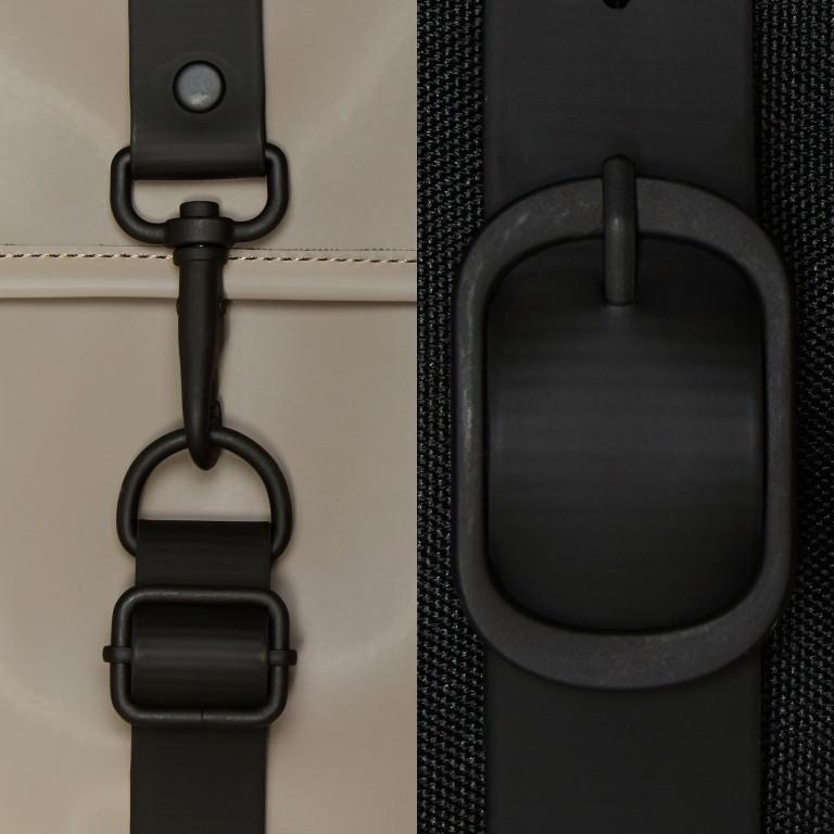 Rucksack Rucksack mit Laptopfach 15 Zoll, Farbe: schwarz, taupe/khaki, Marke: Rains, Abmessungen in cm: 29.5x42.0x11.0, Bild 5 von 5