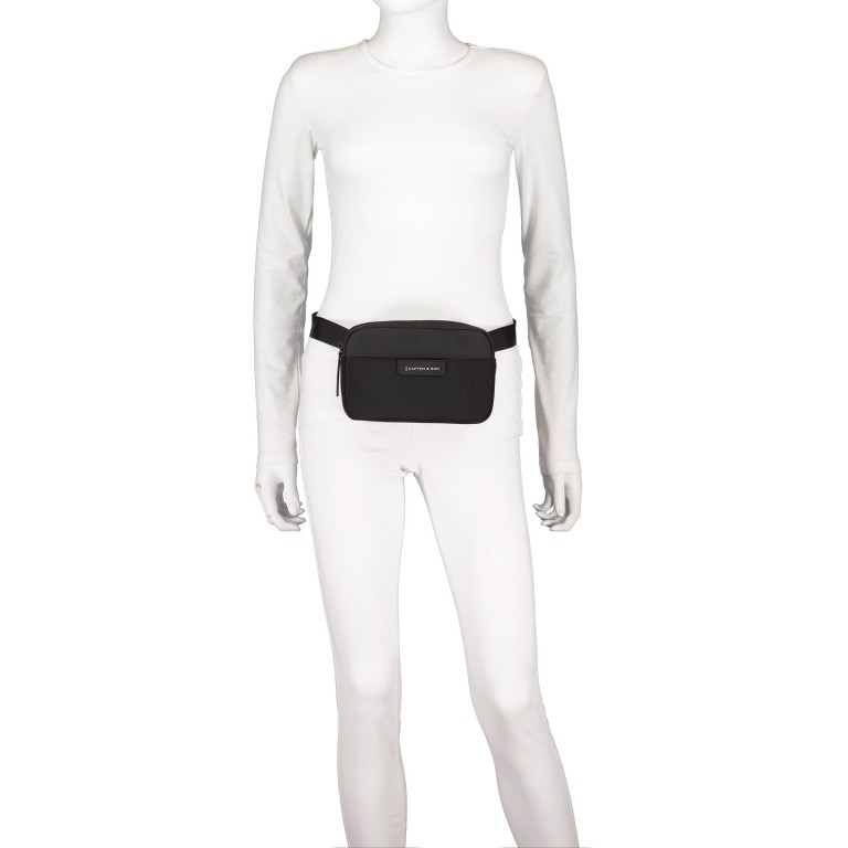 Gürteltasche Habo, Farbe: schwarz, beige, Marke: Kapten & Son, Abmessungen in cm: 22.0x13.0x5.0, Bild 5 von 8