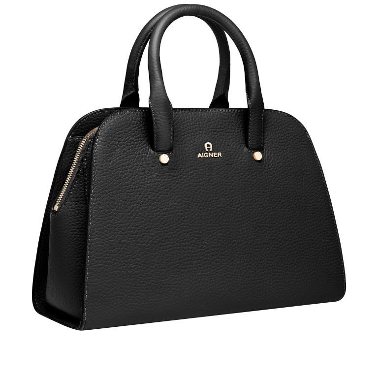 Handtasche Ivy 135-390, Farbe: schwarz, grau, blau/petrol, braun, cognac, beige, Marke: AIGNER, Abmessungen in cm: 29.0x21.0x12.5, Bild 2 von 7