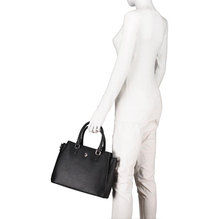 Handtasche Jones Black, Farbe: schwarz, Marke: U.S. Polo Assn., EAN: 8052792838974, Abmessungen in cm: 31.0x24.5x13.0, Bild 4 von 10