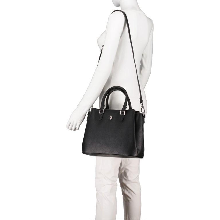 Handtasche Jones Black, Farbe: schwarz, Marke: U.S. Polo Assn., EAN: 8052792838974, Abmessungen in cm: 31.0x24.5x13.0, Bild 5 von 10