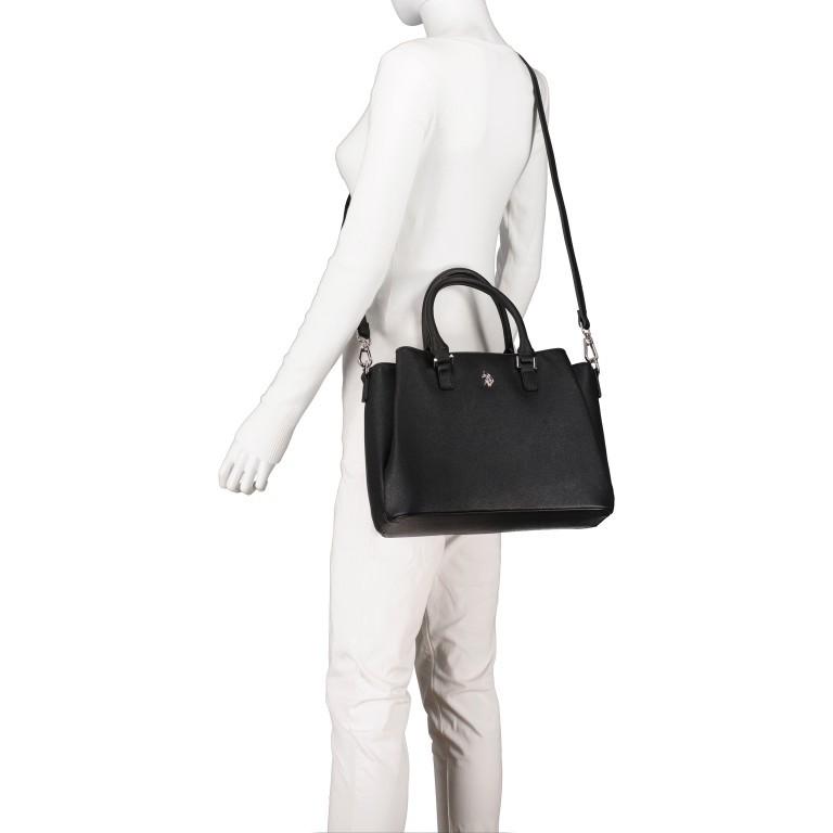 Handtasche Jones Black, Farbe: schwarz, Marke: U.S. Polo Assn., EAN: 8052792838974, Abmessungen in cm: 31.0x24.5x13.0, Bild 6 von 10