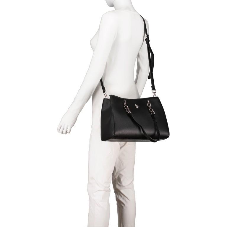 Handtasche Jones Black, Farbe: schwarz, Marke: U.S. Polo Assn., EAN: 8052792838974, Abmessungen in cm: 31.0x24.5x13.0, Bild 7 von 10