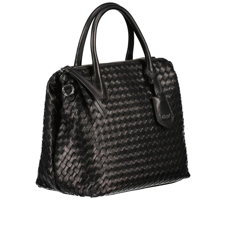 Handtasche Gunda Small, Farbe: schwarz, cognac, taupe/khaki, Marke: Abro, Abmessungen in cm: 27.0x25.0x14.0, Bild 2 von 9
