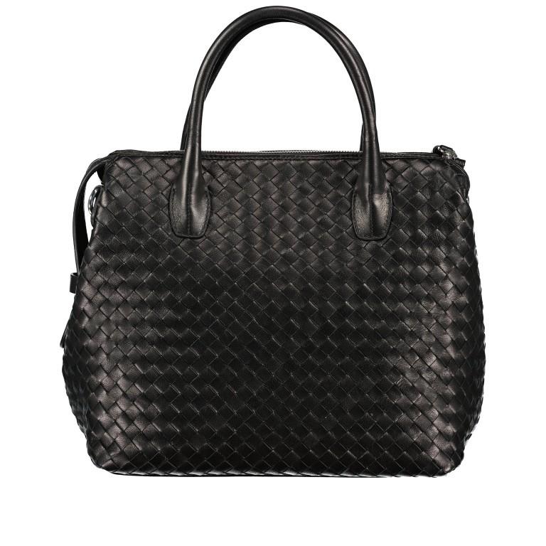 Handtasche Gunda Small, Farbe: schwarz, cognac, taupe/khaki, Marke: Abro, Abmessungen in cm: 27.0x25.0x14.0, Bild 3 von 9