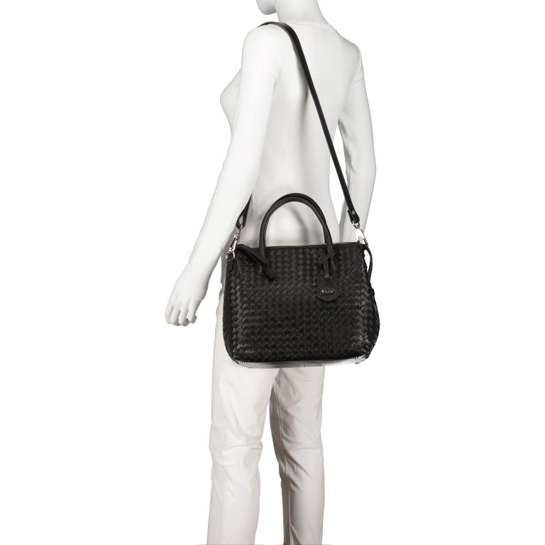 Handtasche Gunda Small, Farbe: schwarz, cognac, taupe/khaki, Marke: Abro, Abmessungen in cm: 27.0x25.0x14.0, Bild 5 von 9