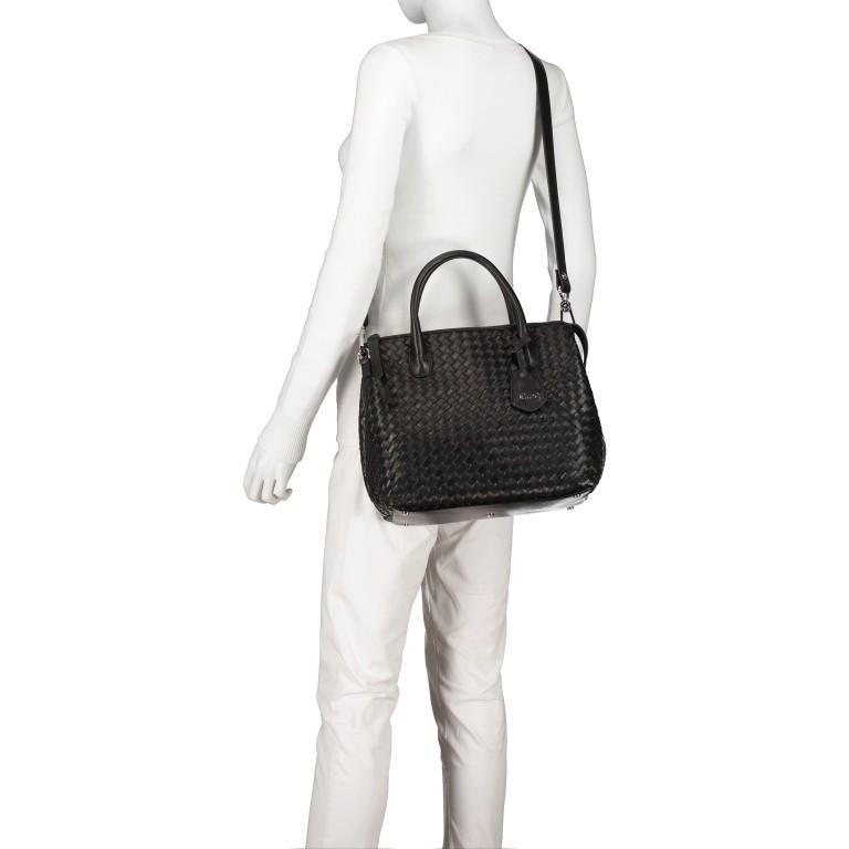Handtasche Gunda Small, Farbe: schwarz, cognac, taupe/khaki, Marke: Abro, Abmessungen in cm: 27.0x25.0x14.0, Bild 6 von 9