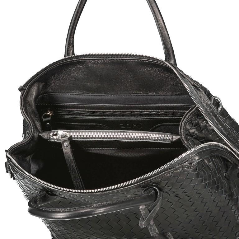 Handtasche Gunda Small, Farbe: schwarz, cognac, taupe/khaki, Marke: Abro, Abmessungen in cm: 27.0x25.0x14.0, Bild 7 von 9