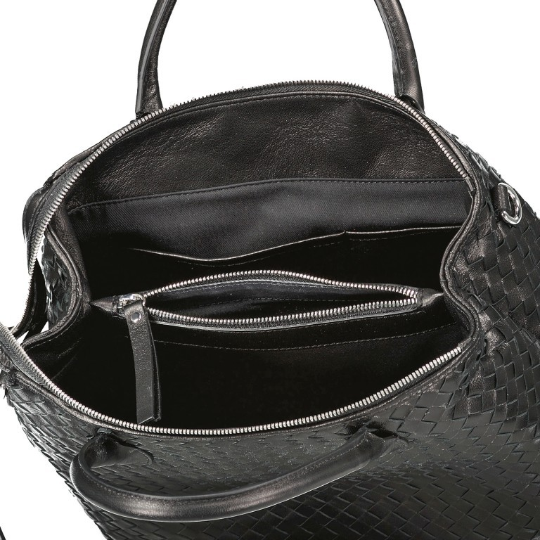 Handtasche Gunda Small, Farbe: schwarz, cognac, taupe/khaki, Marke: Abro, Abmessungen in cm: 27.0x25.0x14.0, Bild 8 von 9