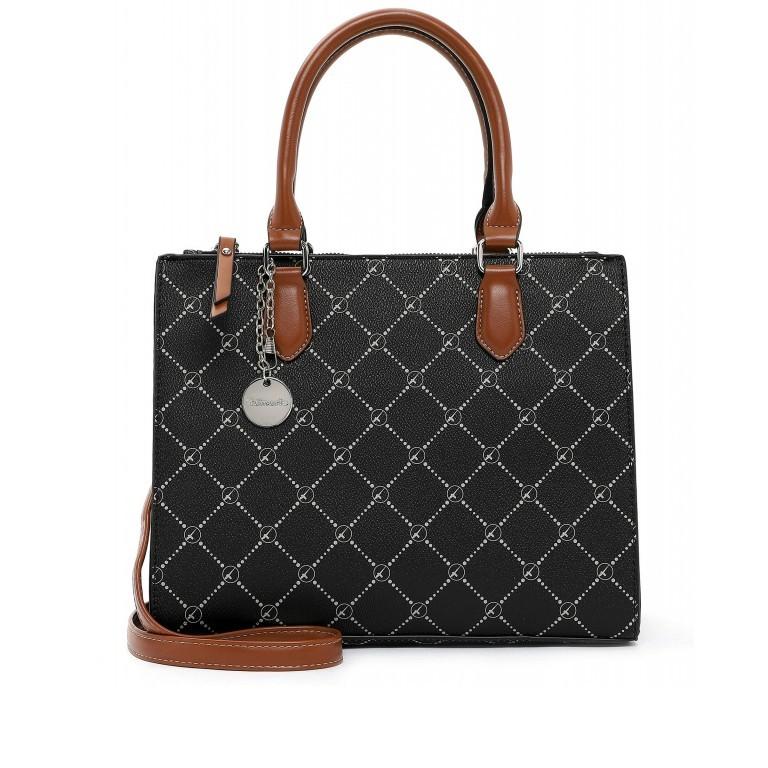 Shopper Anastasia, Farbe: schwarz, grau, blau/petrol, taupe/khaki, beige, Marke: Tamaris, Abmessungen in cm: 29.5x22.5x14.0, Bild 1 von 5