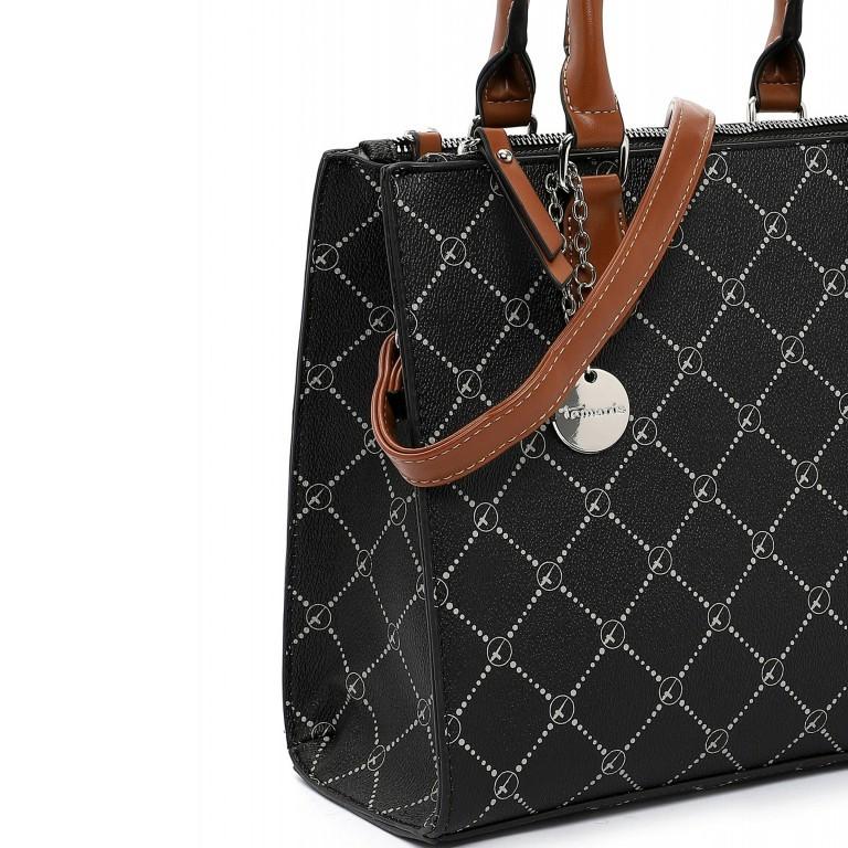 Shopper Anastasia, Farbe: schwarz, grau, blau/petrol, taupe/khaki, beige, Marke: Tamaris, Abmessungen in cm: 29.5x22.5x14.0, Bild 5 von 5