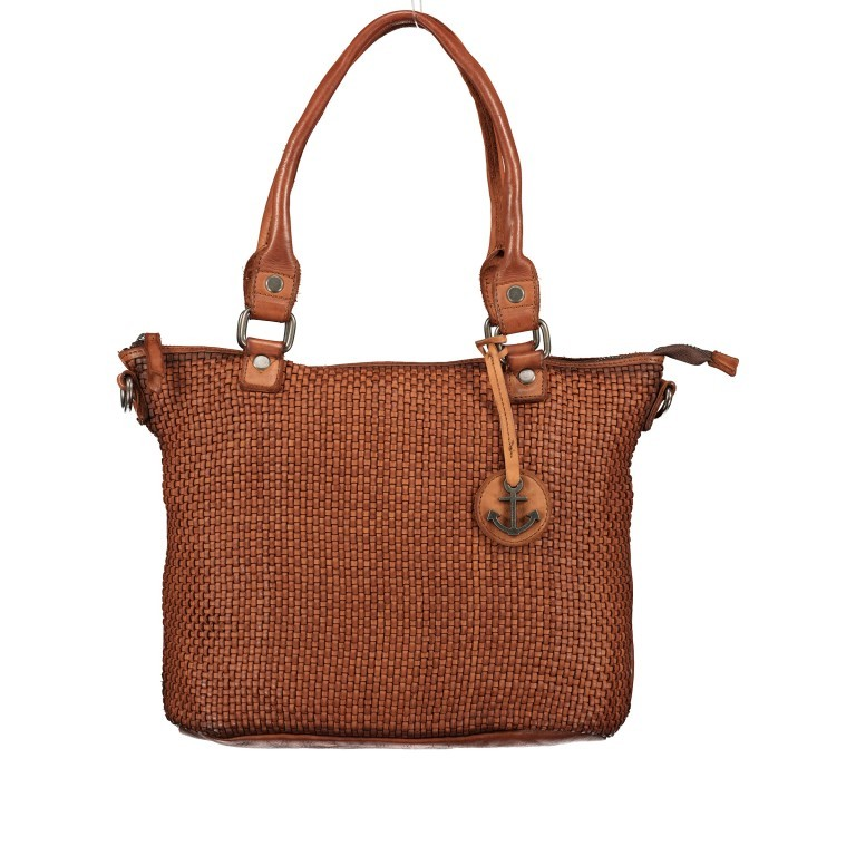 Shopper Soft-Weaving Soraya SW.10500, Farbe: anthrazit, braun, cognac, orange, Marke: Harbour 2nd, Abmessungen in cm: 33.5x26.0x12.5, Bild 1 von 10