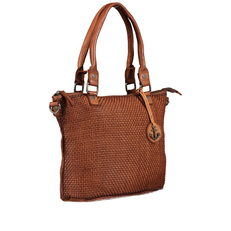 Shopper Soft-Weaving Soraya SW.10500, Farbe: anthrazit, braun, cognac, orange, Marke: Harbour 2nd, Abmessungen in cm: 33.5x26.0x12.5, Bild 2 von 10