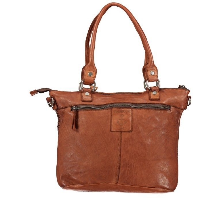 Shopper Soft-Weaving Soraya SW.10500, Farbe: anthrazit, braun, cognac, orange, Marke: Harbour 2nd, Abmessungen in cm: 33.5x26.0x12.5, Bild 3 von 10