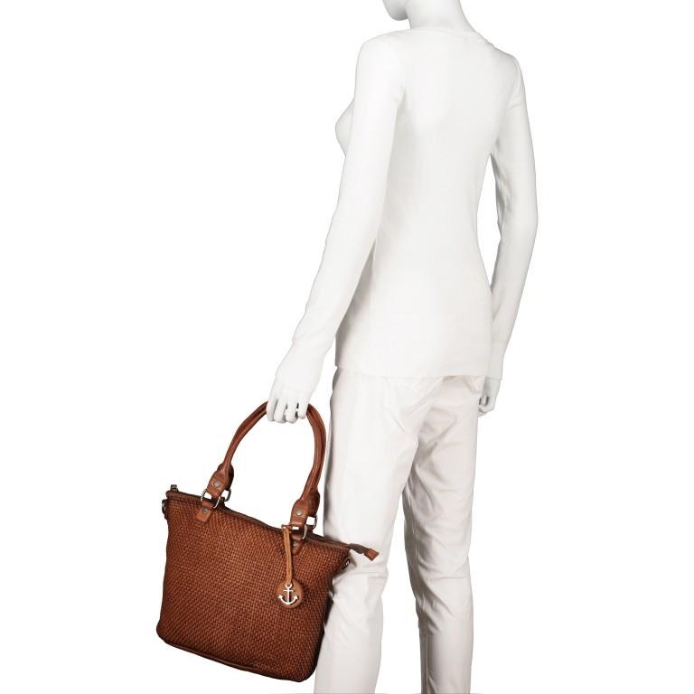 Shopper Soft-Weaving Soraya SW.10500, Farbe: anthrazit, braun, cognac, orange, Marke: Harbour 2nd, Abmessungen in cm: 33.5x26.0x12.5, Bild 4 von 10