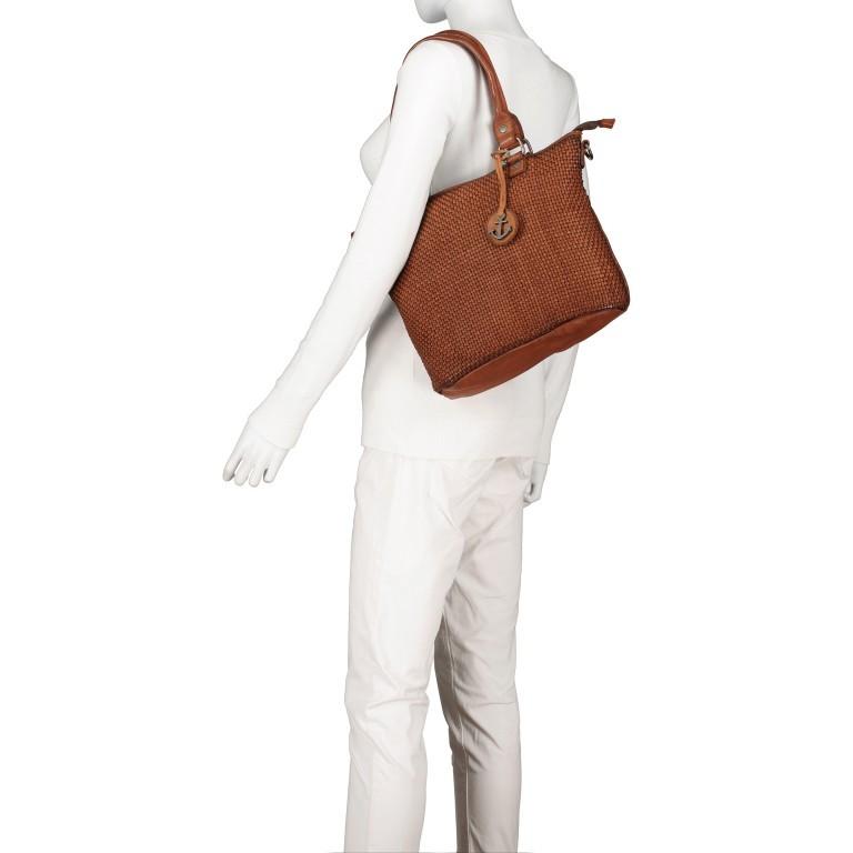 Shopper Soft-Weaving Soraya SW.10500, Farbe: anthrazit, braun, cognac, orange, Marke: Harbour 2nd, Abmessungen in cm: 33.5x26.0x12.5, Bild 5 von 10