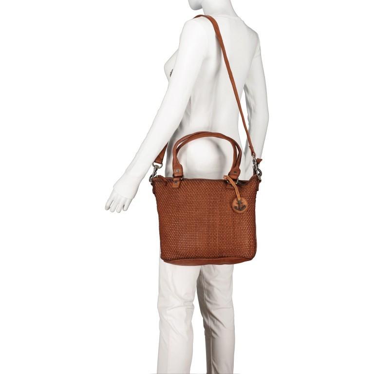 Shopper Soft-Weaving Soraya SW.10500, Farbe: anthrazit, braun, cognac, orange, Marke: Harbour 2nd, Abmessungen in cm: 33.5x26.0x12.5, Bild 6 von 10