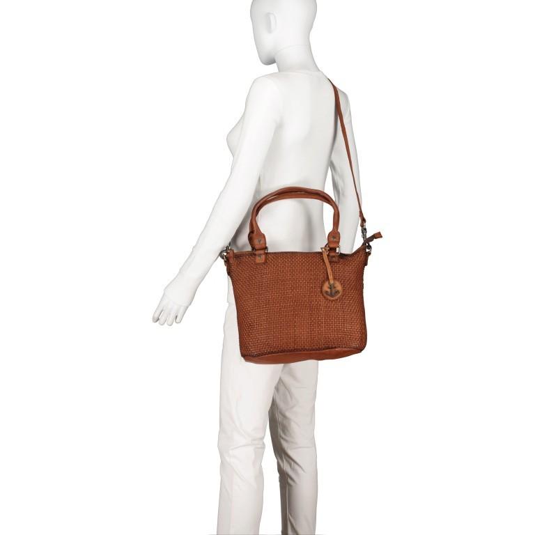 Shopper Soft-Weaving Soraya SW.10500, Farbe: anthrazit, braun, cognac, orange, Marke: Harbour 2nd, Abmessungen in cm: 33.5x26.0x12.5, Bild 7 von 10