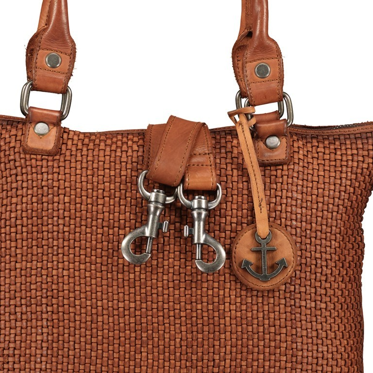 Shopper Soft-Weaving Soraya SW.10500, Farbe: anthrazit, braun, cognac, orange, Marke: Harbour 2nd, Abmessungen in cm: 33.5x26.0x12.5, Bild 10 von 10