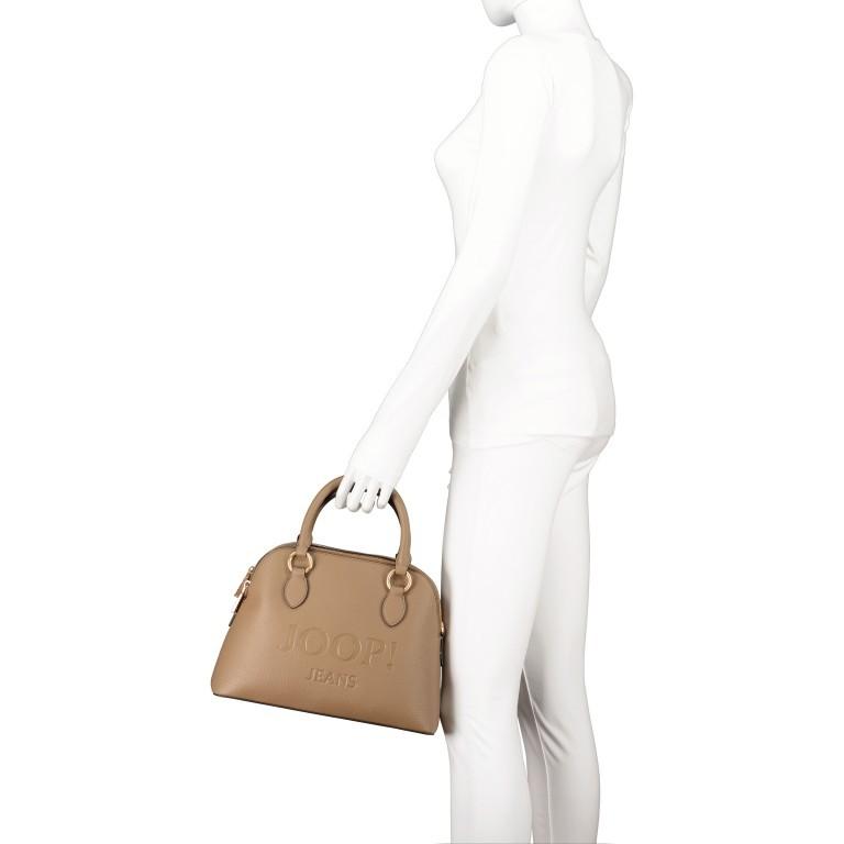 Handtasche Lettera Nava SHZ, Farbe: schwarz, taupe/khaki, Marke: Joop!, Abmessungen in cm: 31.0x22.5x11.0, Bild 4 von 7