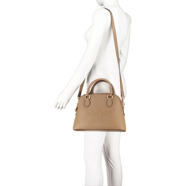 Handtasche Lettera Nava SHZ, Farbe: schwarz, taupe/khaki, Marke: Joop!, Abmessungen in cm: 31.0x22.5x11.0, Bild 5 von 7