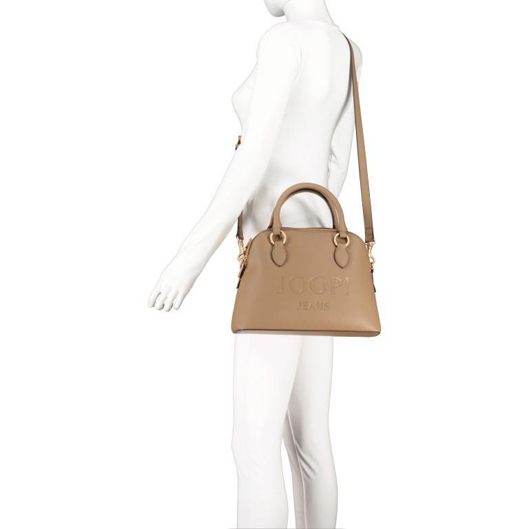 Handtasche Lettera Nava SHZ, Farbe: schwarz, taupe/khaki, Marke: Joop!, Abmessungen in cm: 31.0x22.5x11.0, Bild 6 von 7
