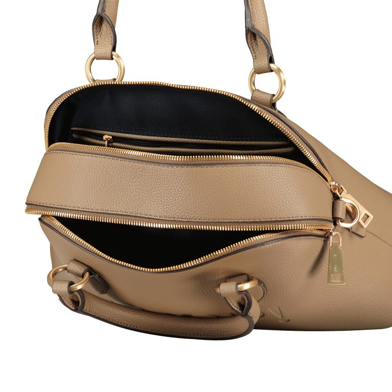 Handtasche Lettera Nava SHZ, Farbe: schwarz, taupe/khaki, Marke: Joop!, Abmessungen in cm: 31.0x22.5x11.0, Bild 7 von 7