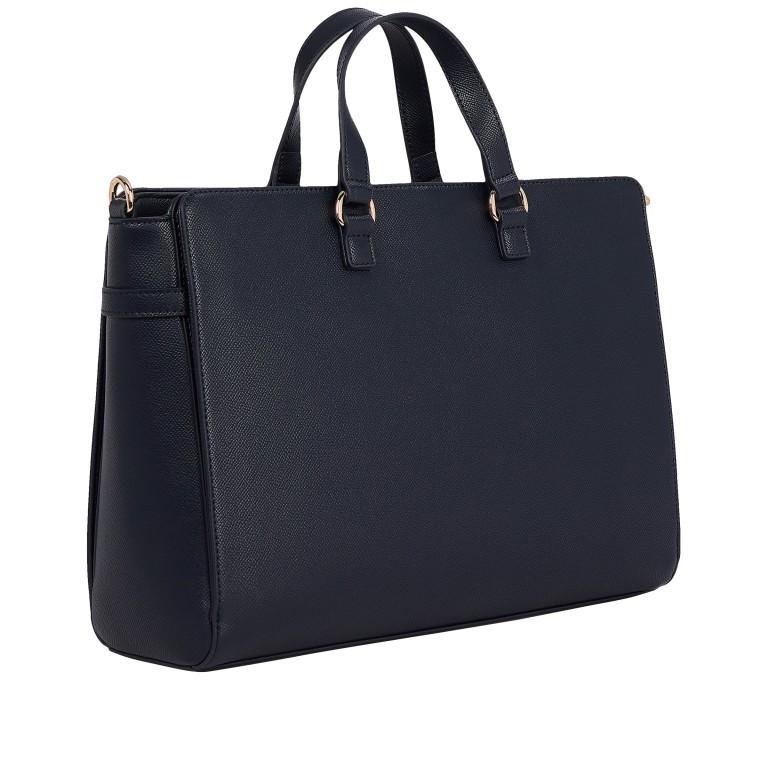 Handtasche Club Tote, Farbe: schwarz, blau/petrol, Marke: Tommy Hilfiger, Abmessungen in cm: 35.0x25.0x12.5, Bild 2 von 3