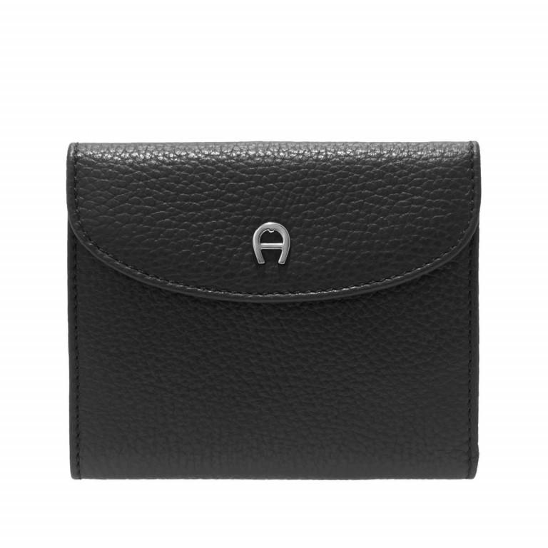 Damenbörse Basics Black, Farbe: schwarz, Marke: AIGNER, EAN: 4055539017575, Abmessungen in cm: 12.0x10.0x2.0, Bild 1 von 2