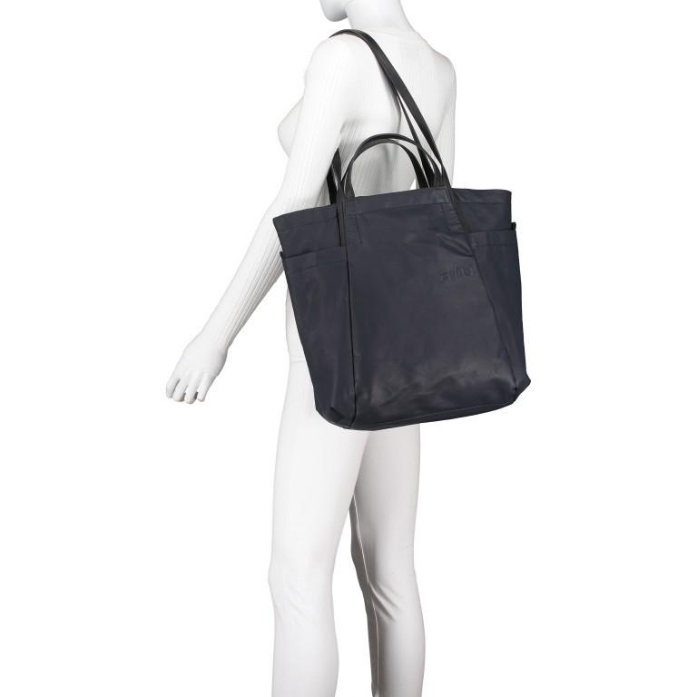 Shopper Japan Takamatsu, Farbe: schwarz, grau, blau/petrol, taupe/khaki, Marke: Aunts & Uncles, Abmessungen in cm: 38.0x34.0x11.0, Bild 5 von 8