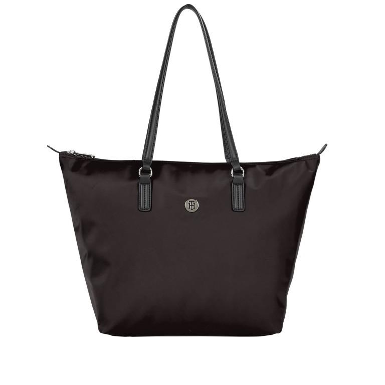 Shopper Poppy Tote, Farbe: schwarz, rot/weinrot, gelb, Marke: Tommy Hilfiger, Abmessungen in cm: 48.0x32.0x14.0 , Bild 1 von 2