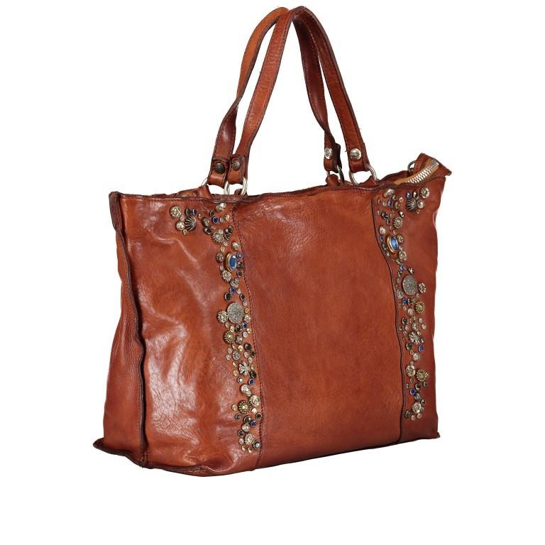 Handtasche Bella Di Notte 25840-X1572, Farbe: anthrazit, cognac, Marke: Campomaggi, Abmessungen in cm: 30.0/40.0x25.0x14.0/4.0, Bild 2 von 9