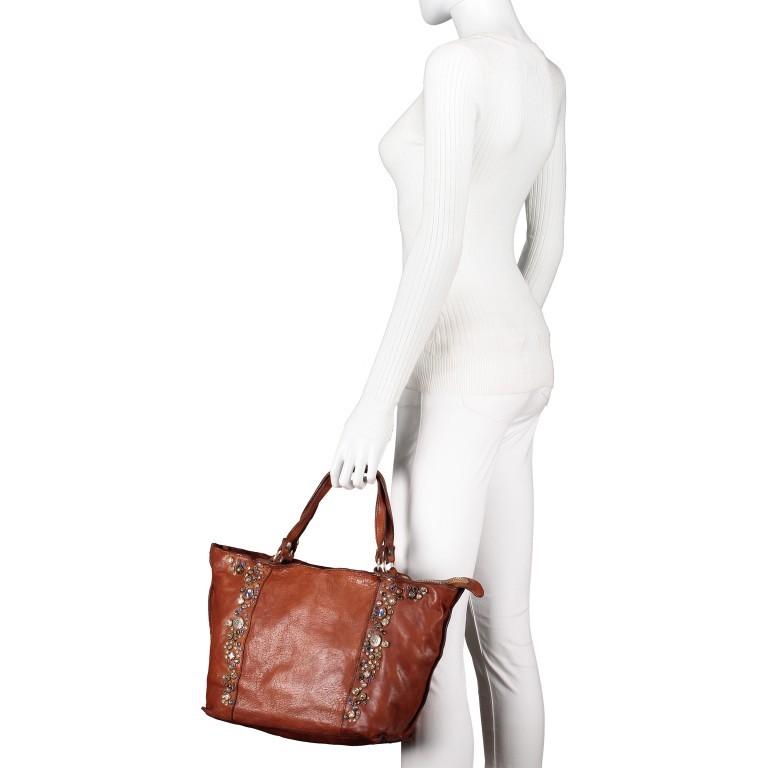 Handtasche Bella Di Notte 25840-X1572, Farbe: anthrazit, cognac, Marke: Campomaggi, Abmessungen in cm: 30.0/40.0x25.0x14.0/4.0, Bild 4 von 9