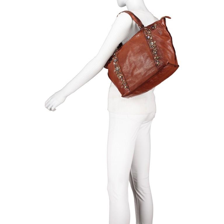 Handtasche Bella Di Notte 25840-X1572, Farbe: anthrazit, cognac, Marke: Campomaggi, Abmessungen in cm: 30.0/40.0x25.0x14.0/4.0, Bild 5 von 9