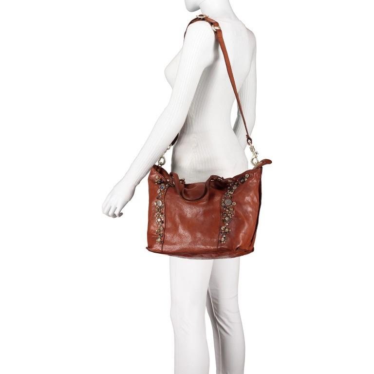Handtasche Bella Di Notte 25840-X1572, Farbe: anthrazit, cognac, Marke: Campomaggi, Abmessungen in cm: 30.0/40.0x25.0x14.0/4.0, Bild 6 von 9