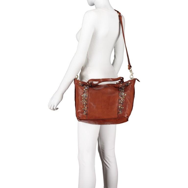 Handtasche Bella Di Notte 25840-X1572, Farbe: anthrazit, cognac, Marke: Campomaggi, Abmessungen in cm: 30.0/40.0x25.0x14.0/4.0, Bild 7 von 9