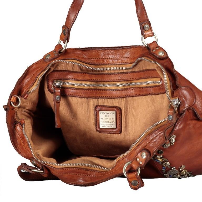 Handtasche Bella Di Notte 25840-X1572, Farbe: anthrazit, cognac, Marke: Campomaggi, Abmessungen in cm: 30.0/40.0x25.0x14.0/4.0, Bild 8 von 9
