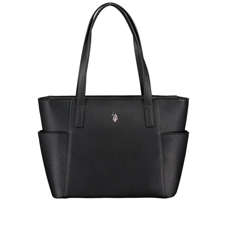 Shopper, Farbe: schwarz, blau/petrol, Marke: U.S. Polo Assn., Abmessungen in cm: 28.5x24.0x11.0, Bild 1 von 6