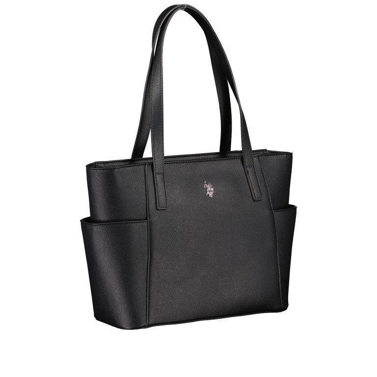Shopper, Farbe: schwarz, blau/petrol, Marke: U.S. Polo Assn., Abmessungen in cm: 28.5x24.0x11.0, Bild 2 von 6