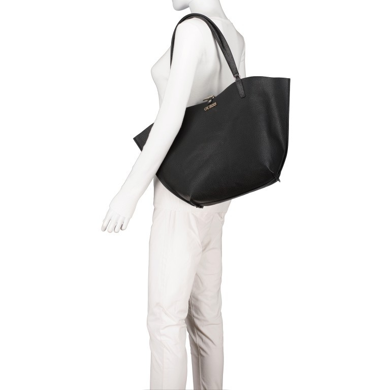 Shopper Alby, Farbe: schwarz, braun, Marke: Guess, Bild 5 von 13