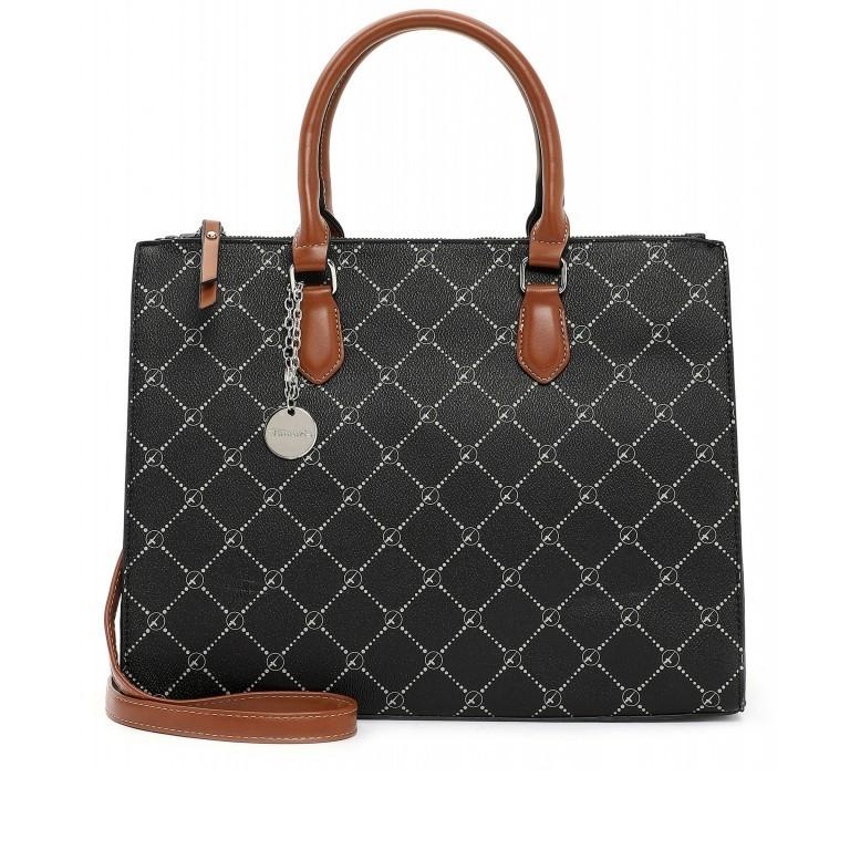 Shopper Anastasia, Farbe: schwarz, grau, blau/petrol, taupe/khaki, Marke: Tamaris, Abmessungen in cm: 35.0x26.0x17.0, Bild 1 von 5