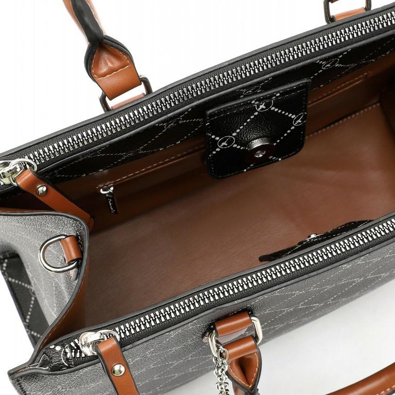 Shopper Anastasia, Farbe: schwarz, grau, blau/petrol, taupe/khaki, Marke: Tamaris, Abmessungen in cm: 35.0x26.0x17.0, Bild 4 von 5