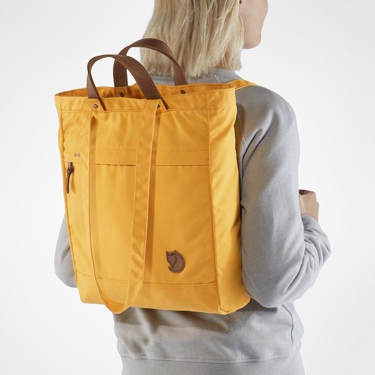 Tasche Totepack No. 1, Farbe: schwarz, grau, blau/petrol, cognac, taupe/khaki, grün/oliv, rot/weinrot, orange, gelb, Marke: Fjällräven, Bild 3 von 11