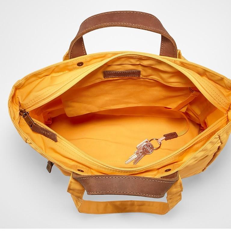 Tasche Totepack No. 1, Farbe: schwarz, grau, blau/petrol, cognac, taupe/khaki, grün/oliv, rot/weinrot, orange, gelb, Marke: Fjällräven, Bild 8 von 11