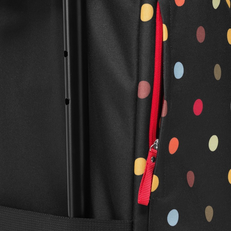 Einkaufsroller Citycruiser Set 2 teilig Rack + Bag, Farbe: schwarz, rot/weinrot, bunt, Marke: Reisenthel, Bild 8 von 14