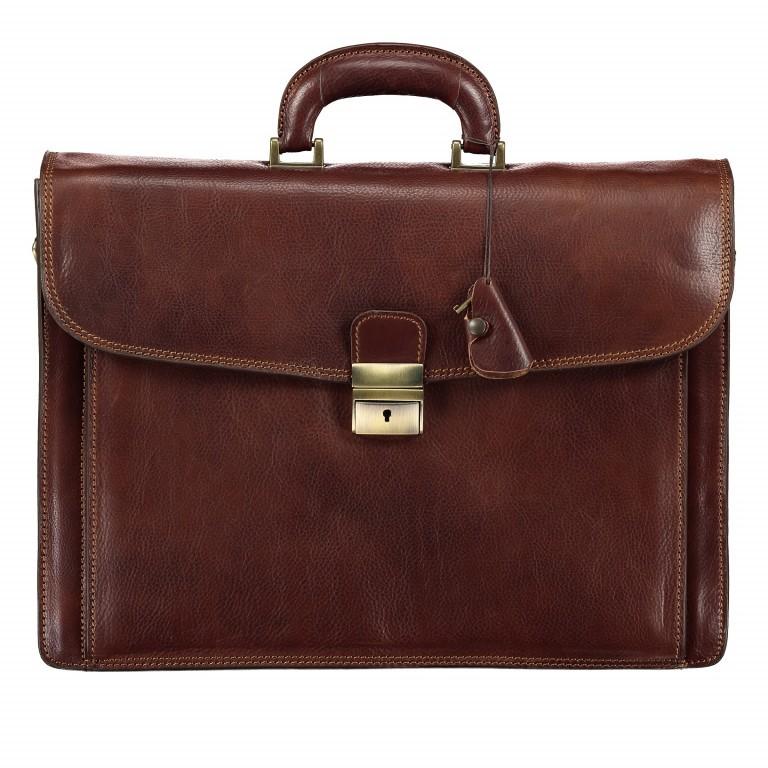 Aktentasche, Farbe: braun, cognac, Marke: Hausfelder, Abmessungen in cm: 41.0x30.0x8.0, Bild 1 von 1